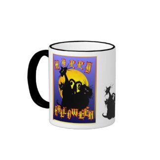 Black Cats Ringer Mug