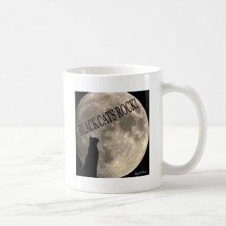 Black cats rock coffee mug