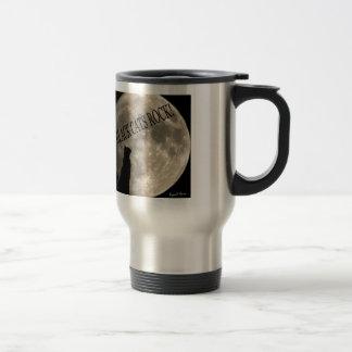 Black cats rock travel mug