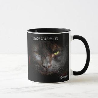 Black Cats rule Cat Meme Mug