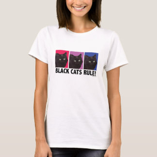 Black Cats RULE! Ladies Fitted Tee