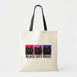Black Cats RULE! Tote Bag