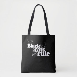 Black cats RULE Tote Bag