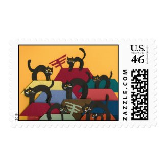 Black Cats Stamps
