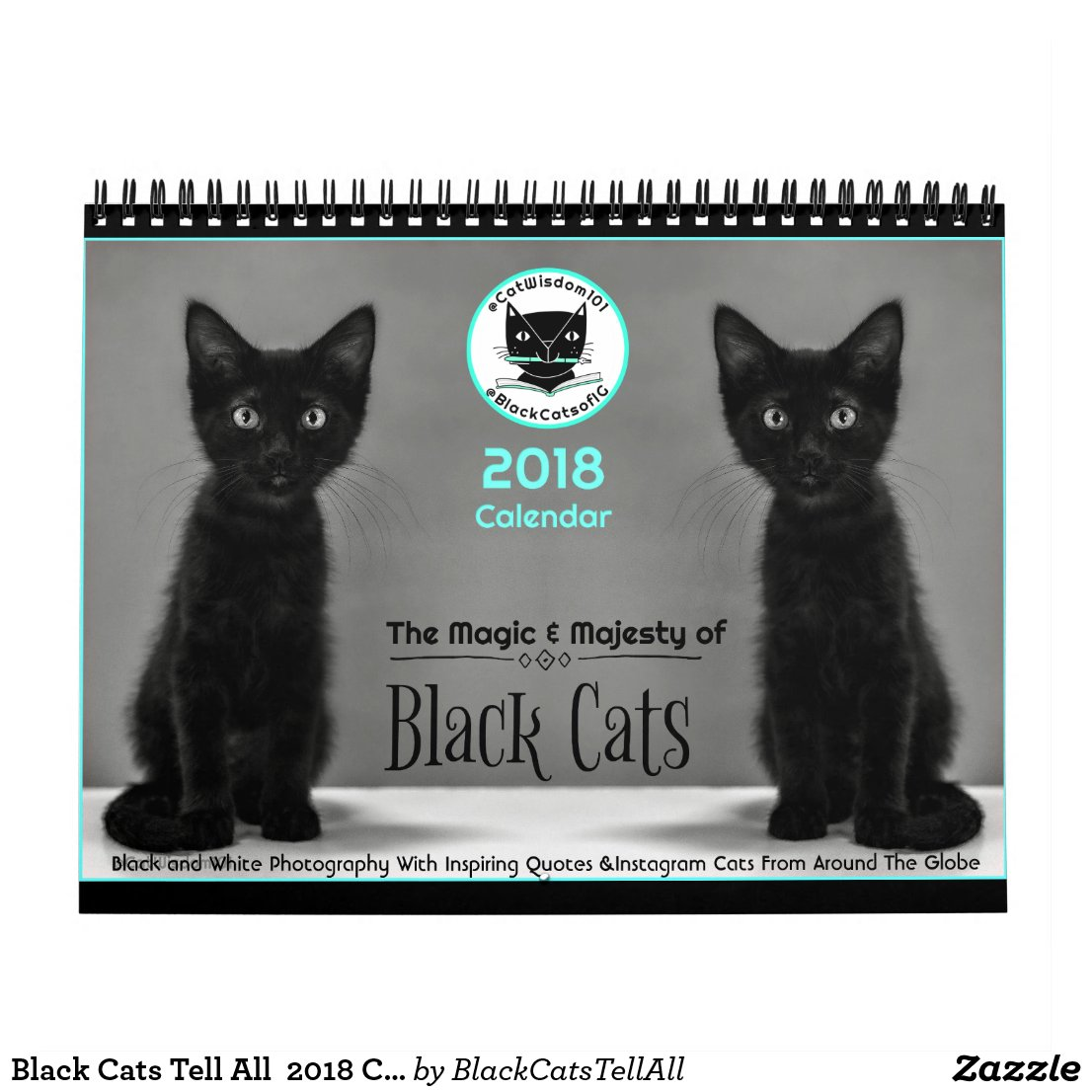 Black Cats Tell All 2018 Calendar