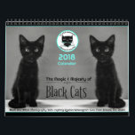 "Black Cats Tell All  2018 Calendar<br><div class=""desc"">Black Cats Tell All 2018 Calendar is the companion to the nonprofit book featuring over 100 black Instagram cats from around the globe. This calendar is black and white photography with quotes to inspire every month. All the cats are on Instagram and easily found by their @. The Black Cats...</div>"