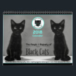 """Black Cats Tell All  2018 Calendar<br><div class=""""desc"""">Black Cats Tell All 2018 Calendar is the companion to the nonprofit book featuring over 100 black Instagram cats from around the globe. This calendar is black and white photography with quotes to inspire every month. All the cats are on Instagram and easily found by their @. The Black Cats...</div>"""