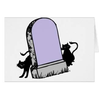 black cats tombstone card