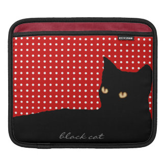 black cats, white dots iPad sleeve