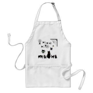 Black Cats & Widow Spiders Adult Apron