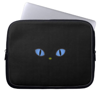Black Cats With Big Blue Eyes Laptop Computer Sleeve