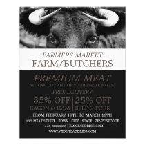 Black Cattle, Farmer & Butcher Advertising Flyer