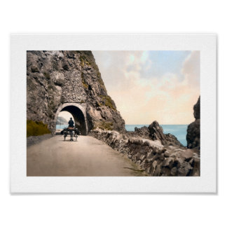 Black Cave Tunnel, County Antrim, Ireland Poster