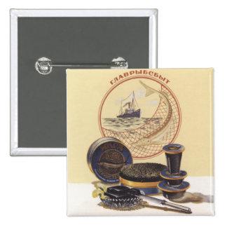 Black Caviar Pinback Button