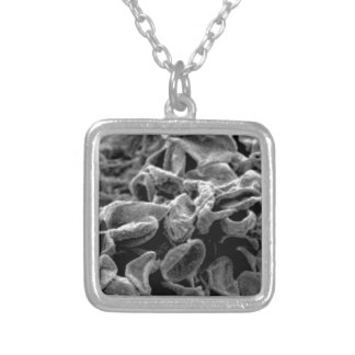 black cells or bacteria silver plated necklace