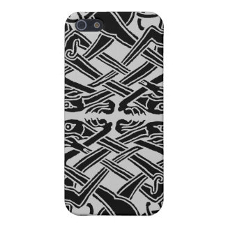 Black Celtic Dogs iPhone SE/5/5s Cover