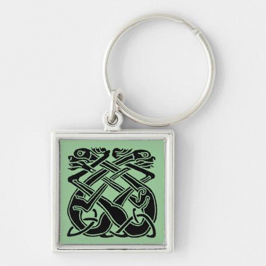 Black Celtic Dogs Keychain