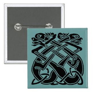 Black Celtic Dogs Pinback Button