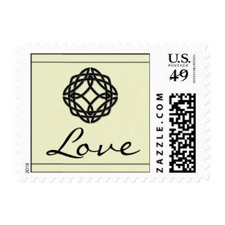 Black Celtic Eternity Knot Love Postage Stamp
