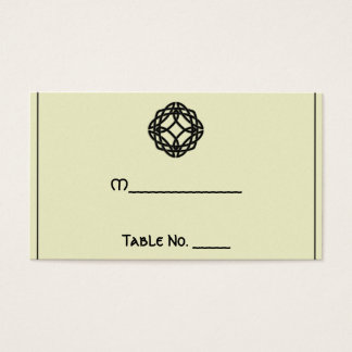 Black Celtic Eternity Knot Wedding Place Cards