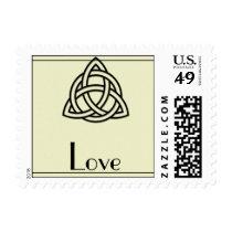 Black Celtic Knot Love Postage Stamp