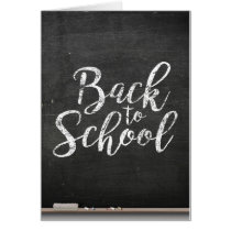 Black Chalk Board Back To School Card