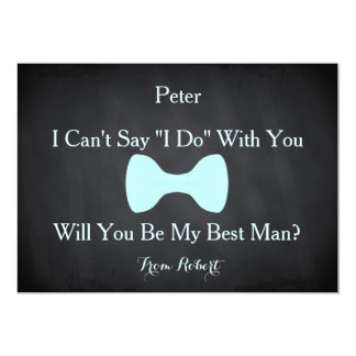 Black Chalkboard Bow Will you be my Bestman Card