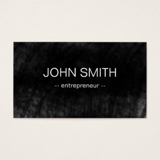 Black Chalkboard Cool Rustic Vintage Business Card