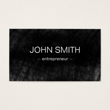Professional Business Black Chalkboard Cool Rustic Vintage Business Card