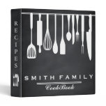 Black Chalkboard Family Recipe Cookbook 3 Ring Binder