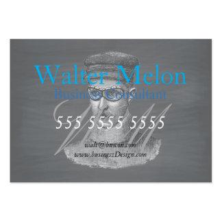 Black Chalkboard Steampunk Goggles Man Large Business Card