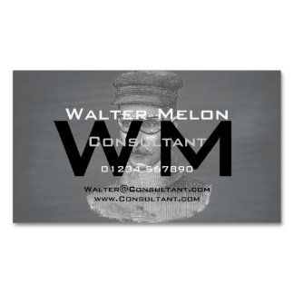 Black Chalkboard Steampunk Goggles Man Magnetic Business Card