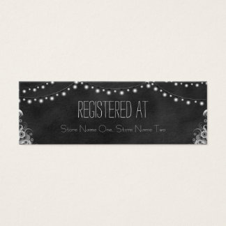 Black Chalkboard String Lights Mini Registry Card