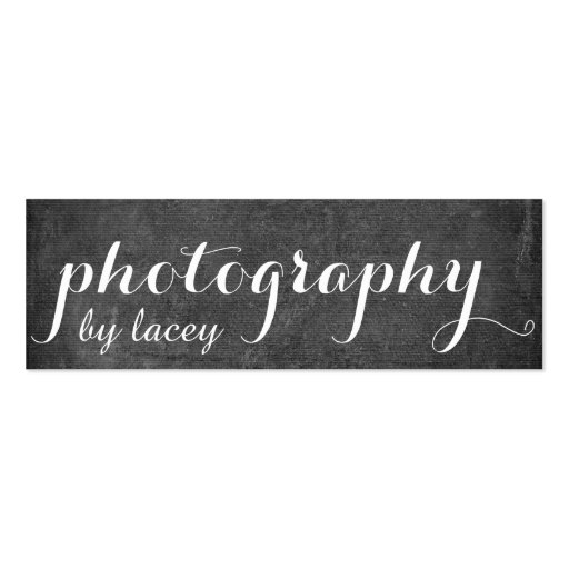 Black Chalkboard Style Double-sided Mini Business Cards (pack Of 20)