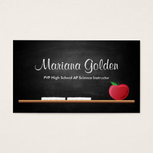Teacher business cards templates zazzle black chalkboard teachers business card cheaphphosting Image collections