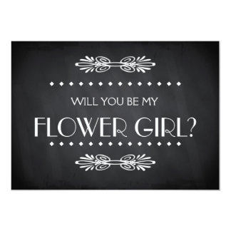 Black ChalkBoard Will you be my Flowergirl Card