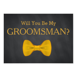 Black Chalkboard Will You Be my Groomsman Card