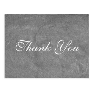 Black Chalkboard with White type Thank you card