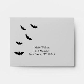 Black Chandelier and Bats RSVP Envelope