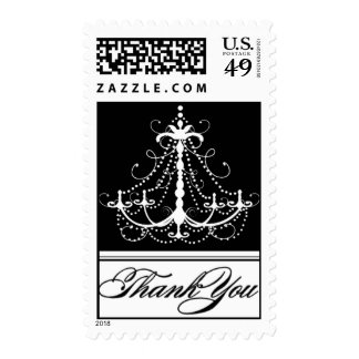 Black Chandelier Thank You Postage
