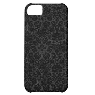 Black Charcoal Damask Case For iPhone 5C