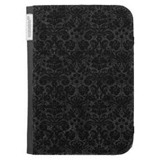 Black Charcoal Damask Case For Kindle