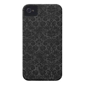 Black Charcoal Damask Case-Mate iPhone 4 Case
