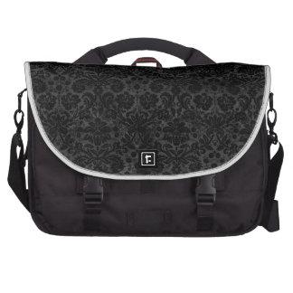 Black Charcoal Damask Commuter Bag
