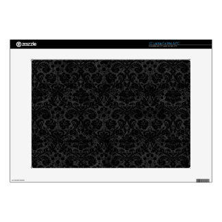 Black Charcoal Damask Decal For Laptop