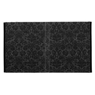 Black Charcoal Damask iPad Folio Case