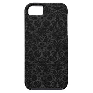 Black Charcoal Damask iPhone 5 Covers
