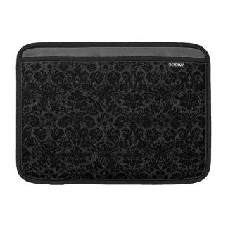 Black Charcoal Damask MacBook Air Sleeves