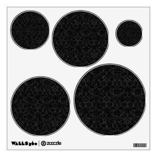 Black Charcoal Damask Room Graphics
