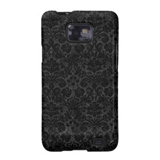 Black Charcoal Damask Samsung Galaxy S2 Case